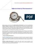 How to Select Different Kinds of Thermometers?