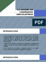 5.5 Diseños en Cuadrados Grecolatinos