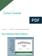 L01 Usability