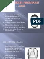 klasifikasi Preparasi Gigi