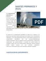 Contaminantes Primarios y Secundarios