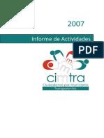 Informe de Actividades CIMTRA 2007