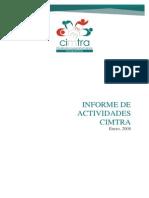 Informe de Actividades CIMTRA 2008