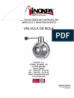 Manual de Válvula a Bolas