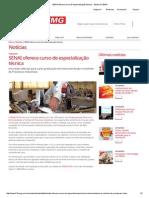 SENAI Oferece Curso de Especialização Técnica - Sistema FIEMG