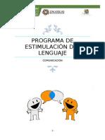 Programa de Estimulacion de Lenguaje