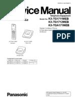 Kx-tg1711meb Manual de Servicio Panasonic