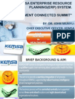 KEMSA Enterprise resource planning (ERP)