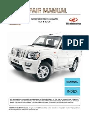 Scorpio MHAWK Repair Manual | Turbocharger | Vehicles