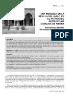 Ana Aranda Una Mendoza en La Sevilla Del Siglo XV El Patrocinio Artistico de Catalina de Ribera