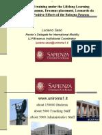"Luciano Saso, La Sapienza University, Rome, Italy ""Studying and training under the Lifelong Learning Programme"