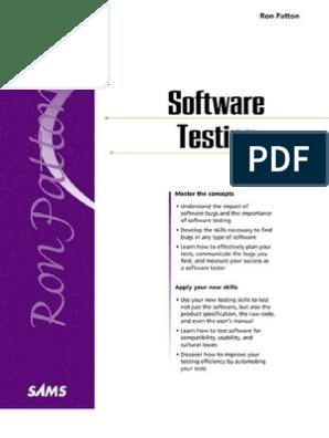 ron patton software testing ebook free download