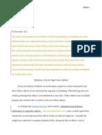 first draft argue a position feedback