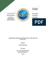 Fractura y Mecanica de Fractura Ejercicios