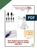 GMS 6012 Basic Medical Genetics Syllabus Spring 2015, Blanck v4