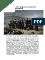 Cien Pronunciamientos en España