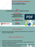 FILTRACION DE SOLIDOS Y DISEÑOS DE FILTROS