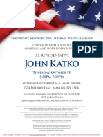 Cocktail Reception for John Katko