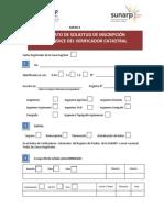 Formato Solicitud de Inscripción Índice Verificador Catastral