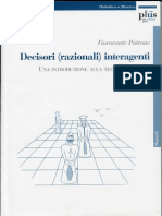 F Patrone Decisori (Razionali) Interagenti Una Introduzione Alla Teoria Dei Giochi