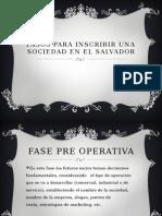 Pasos Para Inscribir Una Sociedad en El Salvador