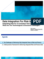 Data Integration for Risk and Finance