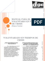 Manual Para El Voluntario en Tiempos de Crisis