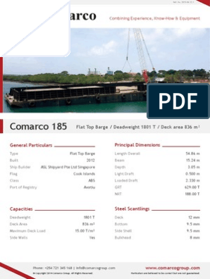Comarco-185 Flat Top Barge
