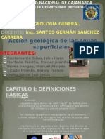 1. Acción Geológica Aguas Superficiales