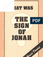 What was the sign of Jonah?