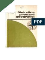 Metodica Geografiei Ciclul Primar