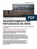 Resettlement Briefing_ES_Reasentamiento de Refugiados de Siria