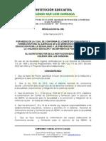 N° 052 COMITE DE CONVIVENCIA COLEGIO SAN LUIS GONZAGA