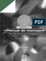 Manual de Montaje Cinematográfico - Roy Thompson