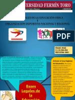 Bases Legales de La Educacion Fisica, Organizacion Deportiva Nacional y Regional