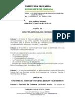 Reglamento Comité de Convivencia San Luis Gonzaga