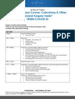 Dr. Wishner's TR300.COLGST.Xi Course Agenda