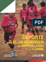 Deporte Para El Desarrollo en America latina y el Caribe UNICEF