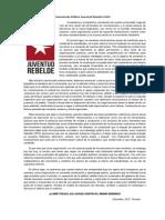 Comunicado Público - Juventud Rebelde UFRO