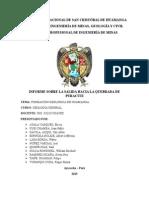 Informe de Geología Quebrada Puracuti