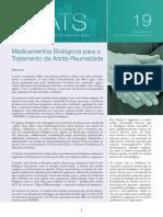Tratamento Da Artrite Reumatóide, Medicamentos Biológicos - Artigo 2012