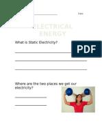 electrical energy worksheet