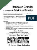 December 10th Flyer in Spanish