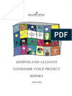 Qld Alliance Consumer Voice Project Report June 2007