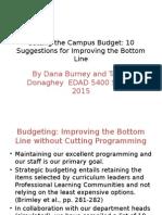 edad campus budget cutting presentation