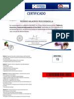 certificado ébola