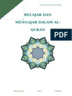 BELAJAR DAN MENGAJAR DALAM AL-QURAN