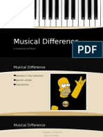 musical difference