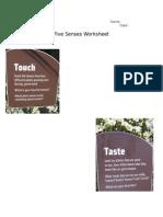 five senses worsheet
