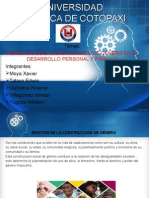 EFECTOS DE LA CONSTRUCCIÓN DE GÉNERO EN EL DESARROLLO PERSONAL Y FAMILIAR